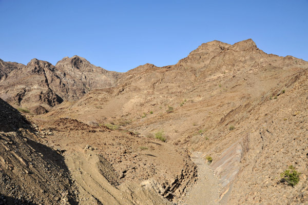 ...but for now, some of the route is still a rough wadi track