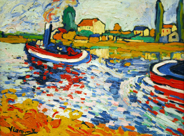 Tugboat on the Seine, Maurice de Vlaminck, 1906