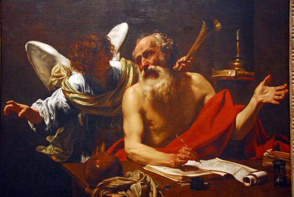 St, Jerome and the Angel, Simon Vouet, ca 1625