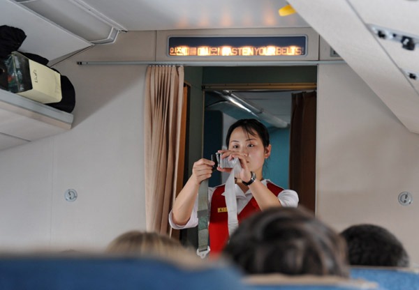 The Flight Attendant Dance on Air Koryo