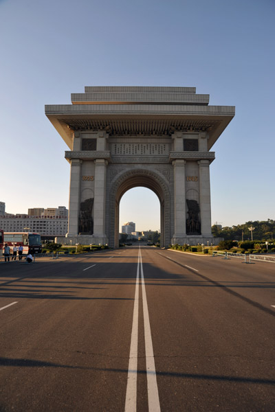 Chilsongmun Street leading to the Arch of Triumph