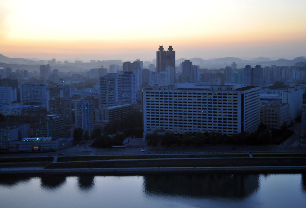 Pyongyang from the Yanggakdo Hotel