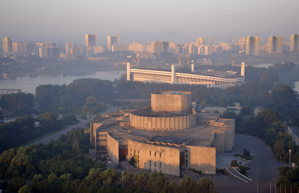 Pyongyang International Cinema House and Yanggakdo Football Stadium, Pyongyang