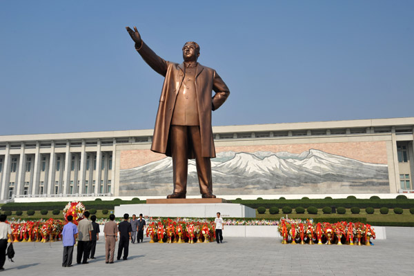 You could probably expect a drive back to the airport if you refuse to bow to Kim Il Sung here