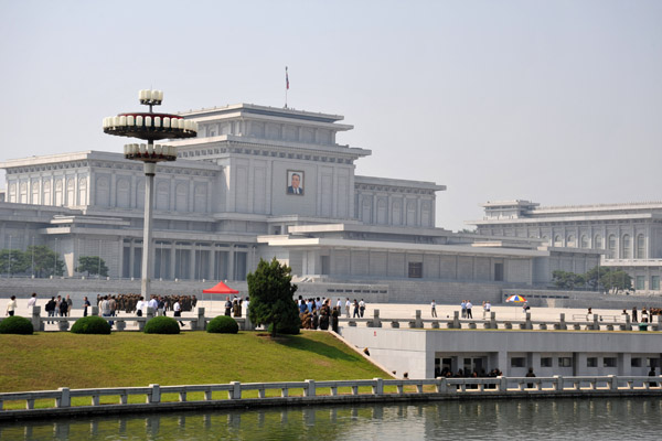 Kumsusan Memorial Palace, the mausoleum of Kim Il Sung, Pyongyang