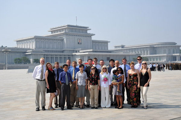Group photo at the Kumsusan Memorial Palace