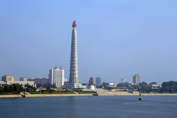 Juche Tower on the Taedong River across from Kim Il Sung Square, Pyongyang