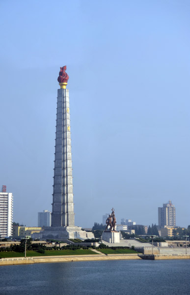 Juche Tower erected in 1982