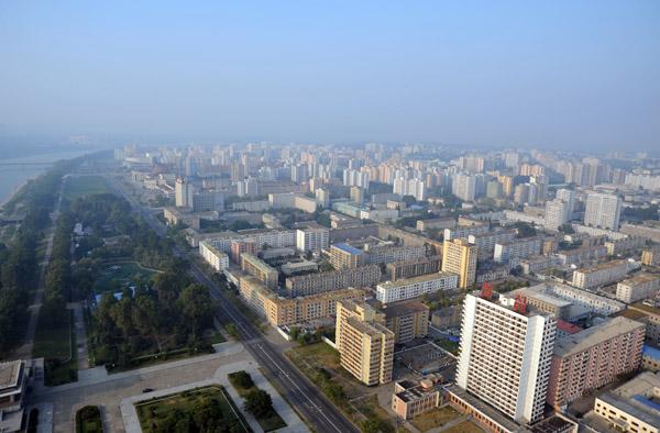 View NE from Juche Tower, Pyongyang