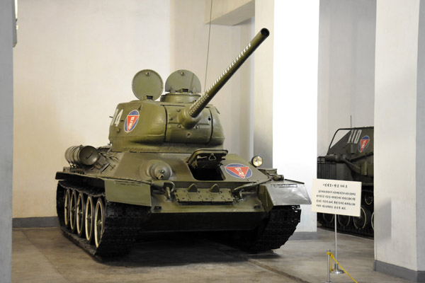 Soviet-built North Korean T-34 tank