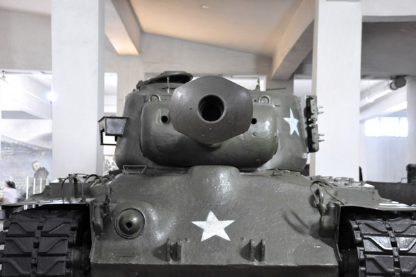 Catpured American M-26 Pershing tank, American M-4A3 Sherman Tank, Victorious Fatherland Liberation War Museum