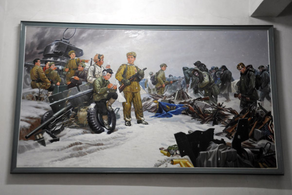 Tallying the spoils of war - Americans surrendering to North Korean army, winter