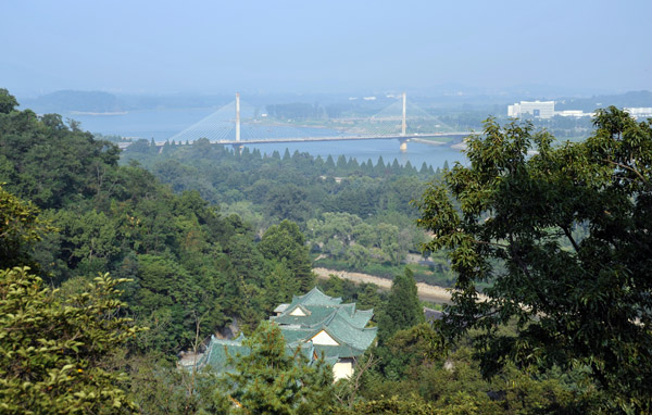 View from the Ulmil Pavilion, Moranbong Park, Pyongyang