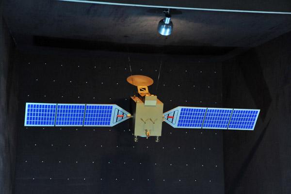 Three Revolutions Exhibition - model of a North Korean satellite