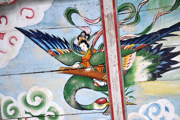 Painted ceiling, Haetal Gate, Pohyon Temple