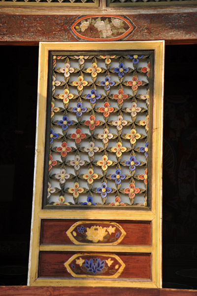 Wooden panel on Taeung Hall
