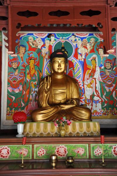 Buddha, Taeung Hall, Pohyon Temple