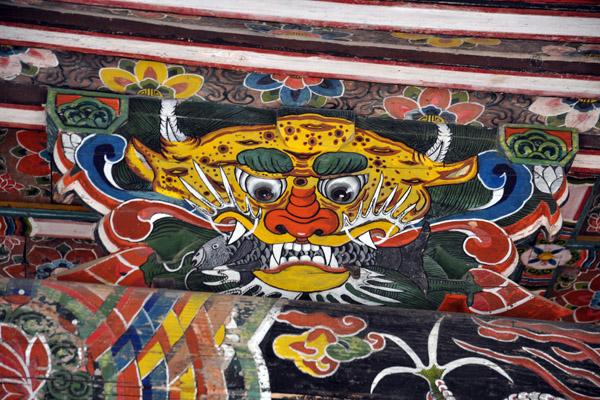 Guardian figure, Kwanum Hall, Pohyon Temple