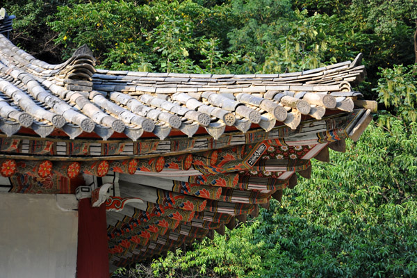 Roof of the Kwanum Hall, Pohyon Temple