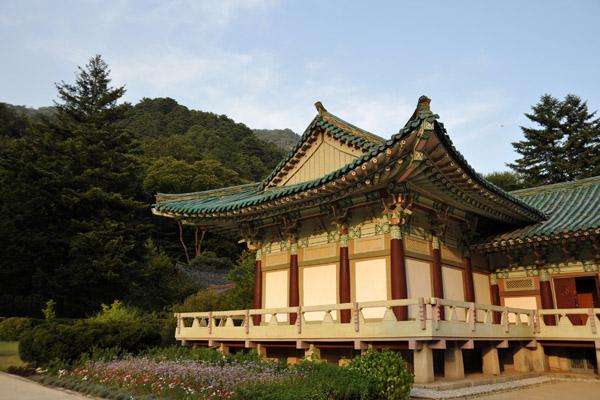 The wooden blocks are a copy of the Tripitaka Koreana