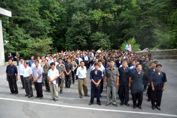 North Korean visitors to the Myohyang Nature Reserve