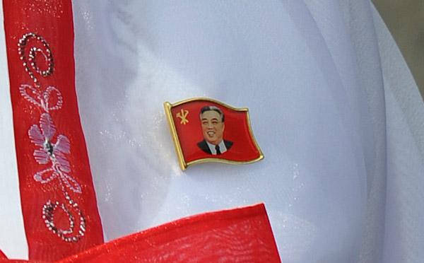 Every North Korean wears a Kim Il Sung badge