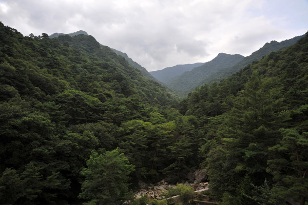 View of the green mountains of Myohyangsan Nature Reserve