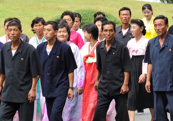 North Korean visitors to the International Friendship Exhibition