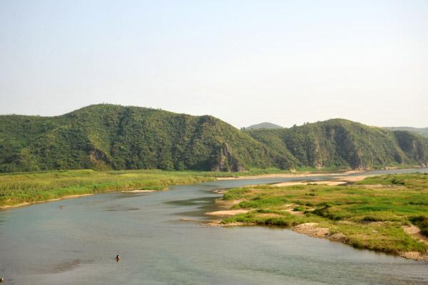 Hills along the Chongchon River, North Korea