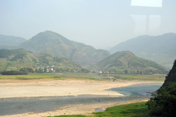 As we get farther north of Pyongyang, the landscape gets more mountainous