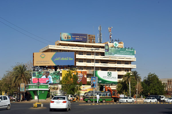 Junction on the Omdurman side of the White Nile Bridge