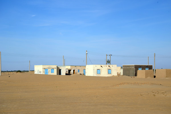 Typical road-side village of Northern Sudan