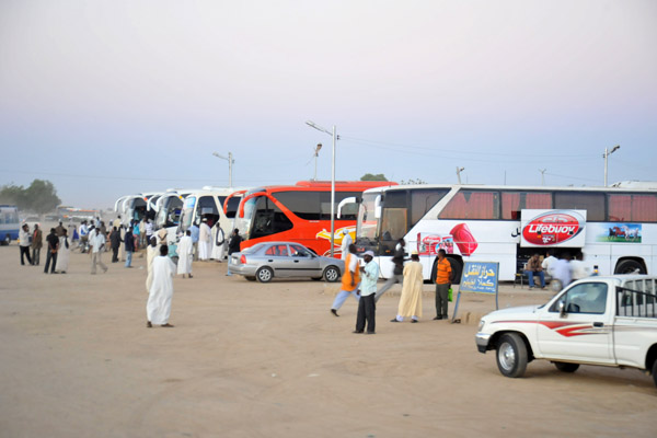 Early morning at the Kassala Long-Distance Bus Station