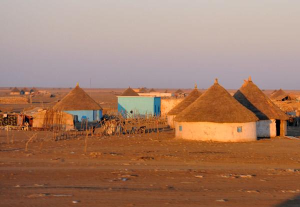 Village of thatched rondavels outside Kassala