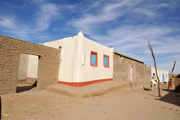 Nubian village south of Sesibi on the West Bank of the Nile
