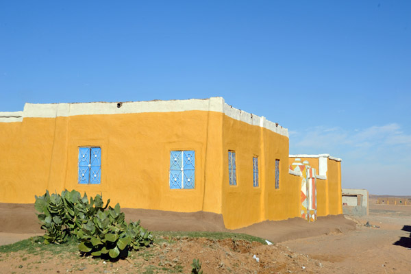 West bank Nubian house painted yellow, Gobbat Salim
