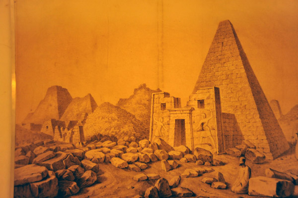 19th Century engraving of the Pyramids of Meroe