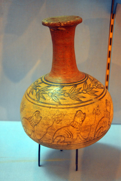 Painted bottle from a funerary chamber