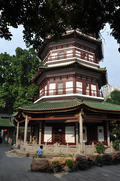 Octagonal base of the Flowery Pagoda