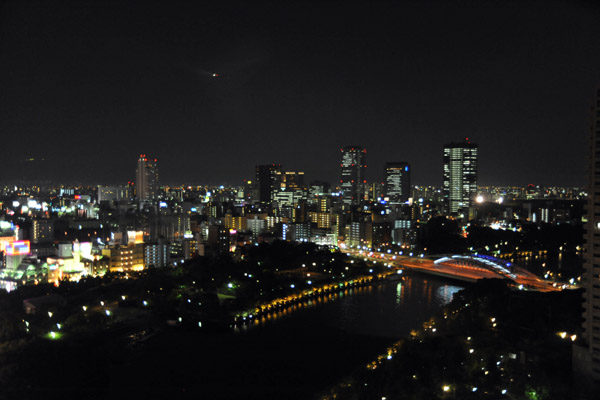 Night view from the Imperial Hotel, Osaka