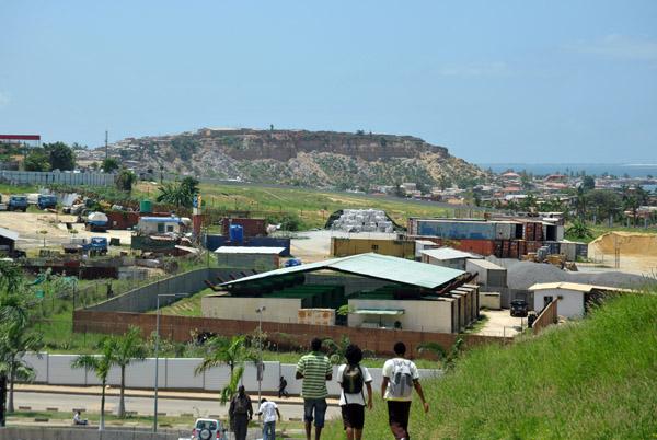 Coastal cliffs south of the city center, Luanda