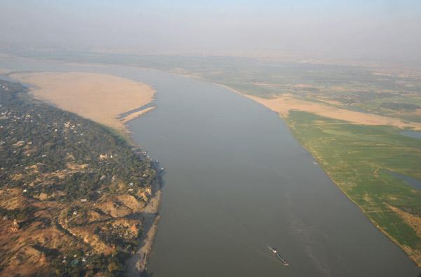 Irrawaddy River at Bagan, Burma (Myanmar)
