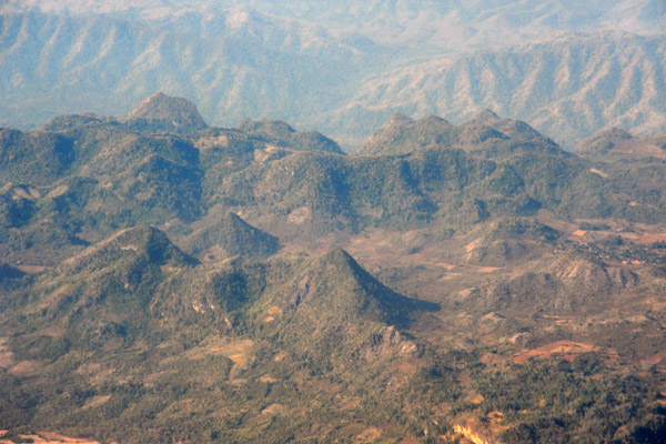 Hills of Shan Province, Burma (Myanmar)