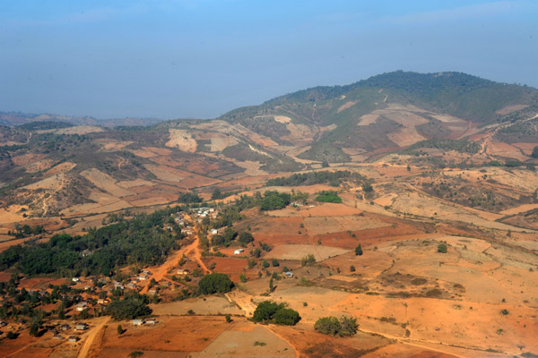 On approach to Heho Airport, Shan Province, Burma (Myanmar)