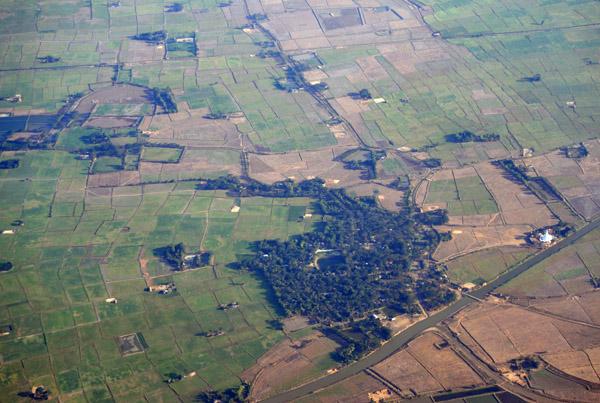 Farmland outside Yangon, Myanmar (Burma)