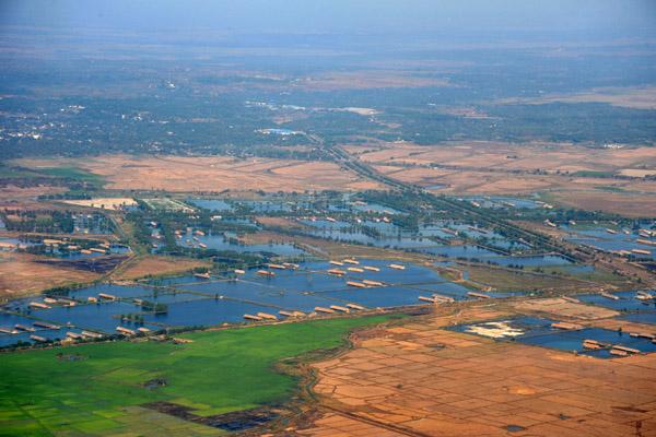 Flooded fields outside Yangon, Myanmar