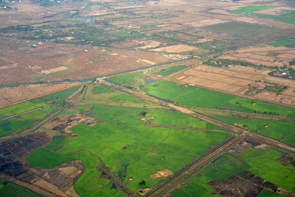 Farmland northeast of Yangon, Myanmar