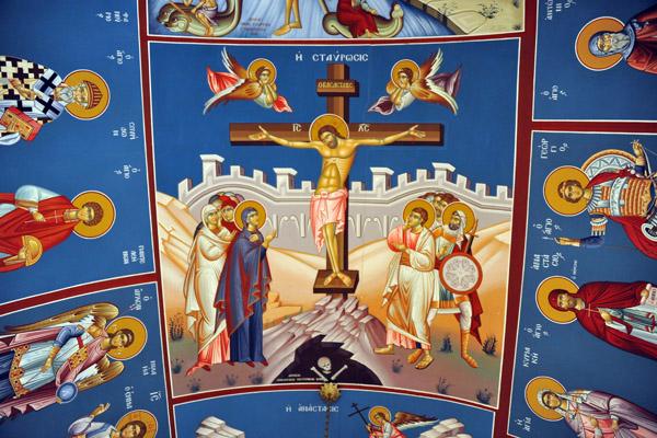 Painted interior of the Greek Orthodox Church, Tripoli Medina