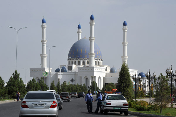 The newly constructed great mosque of Mary, the Hajji Gurbanguly Mosque