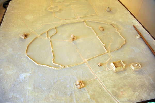 Model of the archeological site of Merv, a UNESCO World Heritage Site